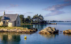 Maison au bord de l'eau dans le Golfe du Morbihan